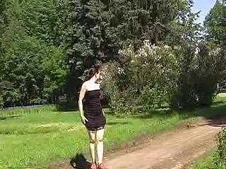 Summer road pissing