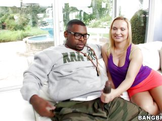 black hunk and blonde cunt