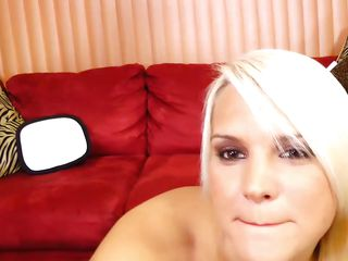 lascivious blonde gags with cock