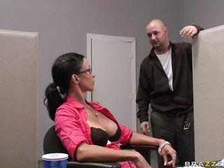 johnny sins gets caught masturbating and fucks a employee