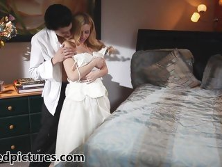 New bride Lexi Belle gets fucked by her man