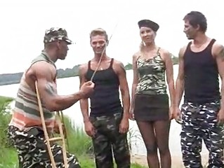 Hard fuck angel from russian army