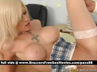 Sweet blonde girl at school on the desk gets her hot love tunnel licked