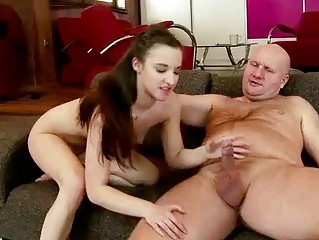 Teen fucking grandpa pretty hard