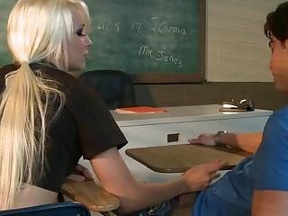 Naughty schoolgirl Stevie Shae pounded