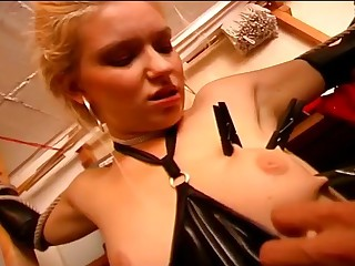 Hot slave girl riding the masters penis