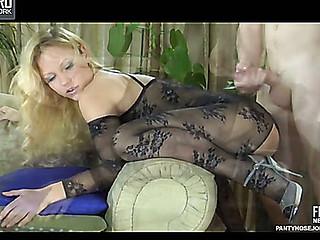 Blanch&Rolf enjoying kinky pantyhose sex