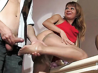 Alice&Mike nasty nylon feet video