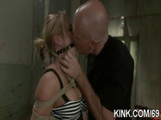 Hot pretty angel ass fucked and dominated in bondage