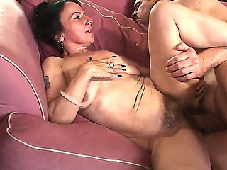 Jay Huntington fucking hard his mature neighbor Miss Nina Swiss in her unshaved pussy