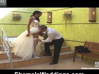 Bruna gorgeous shemale bride