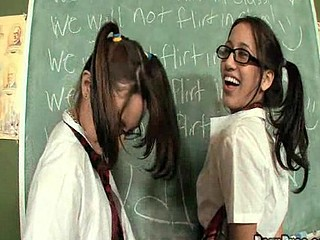 Sweet Legal Age Teenager Amai acquires group-fucked by detention teacher.