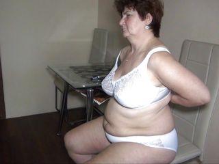 fat granny in the kitchen