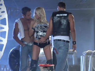 Blond Milf IS Gangbanged By Horny Cocks