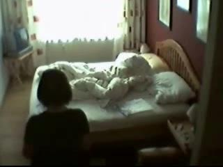 My mum in her bedroom masturbating. Hidden cam