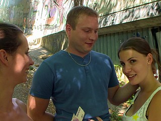 CZECH COUPLES Juvenile Pair Takes Money for Public Foursome