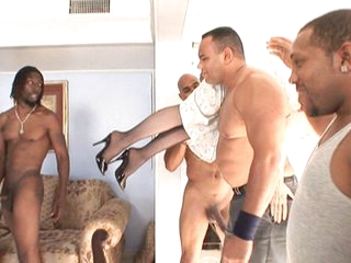 Nina Hartley Team-fucked by Black Gang