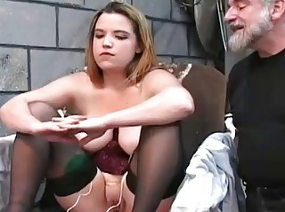 Chubby female got punished