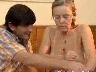 Granny Got Her Hairy Old Ass Anal Screwed