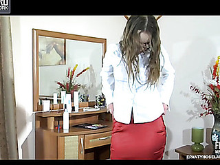 Paulina pantyhose tease movie