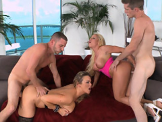 Foursome Sexing With Two Hot MILF