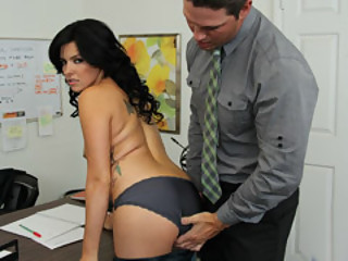Hot Brunette Danica Dillon Bow Over For Aaron