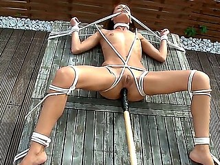 Sexy babe Sophie Lynx gets all fastened up and brutaly fucked in hardcore BDSM session