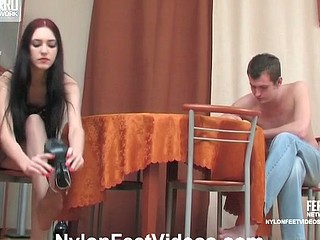Judith&Christopher sexy nylon feet action
