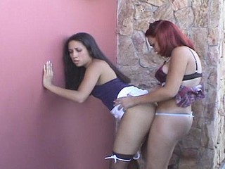 Gaby shemale and pussygal on video