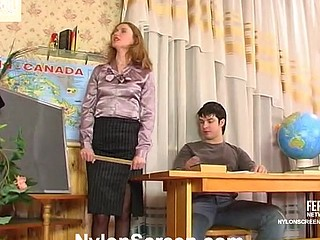 Irene&Adam red sexy nylon movie