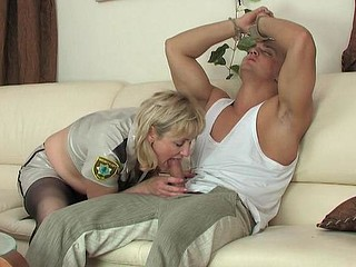 Emilia&Nicholas older pantyhose action
