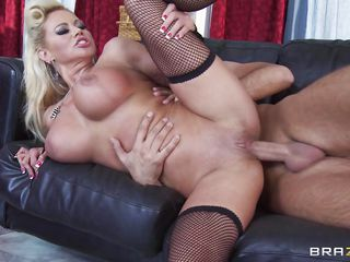 glamorous blonde milf with huge boobs fucking