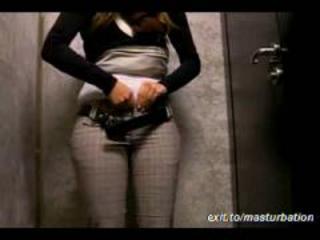 masturbation in the Office Toilet