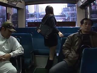 School cutie Yayoi Yoshino acquires rammed in bus