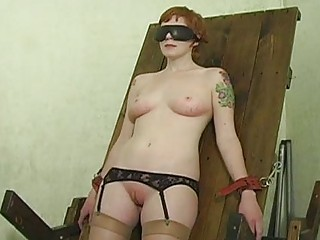 Slave hogtied in her pants