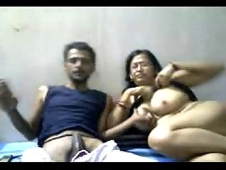 Indian mature pair mr and mrs gupta in webcam
