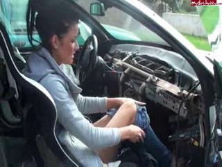 German on a bmw car gear shift