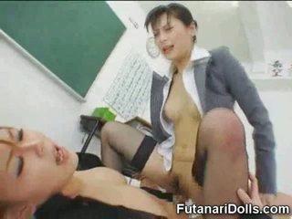 Futanari Tastes Own Cum