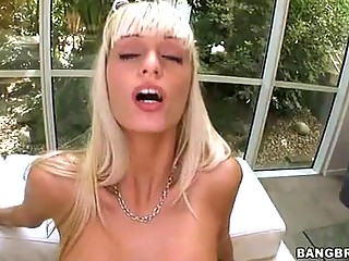 Erica Fontes Rides A Large Black Ramrod Filling This Guyr Tight