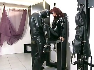 Horny domina receives fucked by her serf