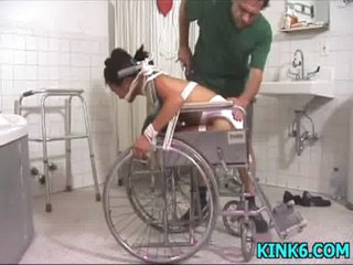 Helpless girl receives abused