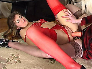 Maria&Ninon concupiscent anal lesbo action