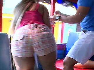 Crazy action in the bus with busty, slutty and very sexy baby Alejandra