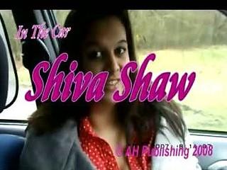 Busty teen flashing her boobs in the car
