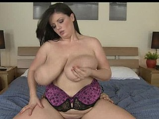 Arianna riding schlong as her large a-hole boobies bounce up and down!