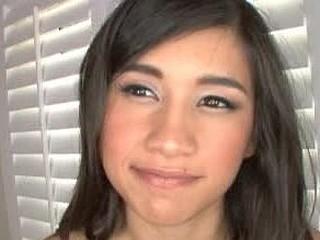 Cute Brunette Hair Legal Age Teenager Beauty Swallows Cum
