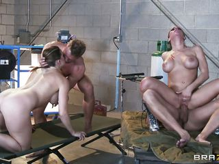 chanel preston and rachel roxxx rocked the lab with superb fuck