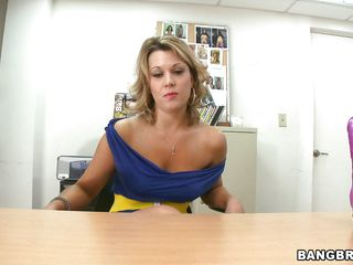 hot body milf swallowing a big dildo