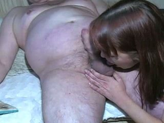 Chubby Granny is very horny great threesome