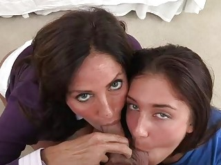 Stepmom shows legal age teenager how to fuck anal